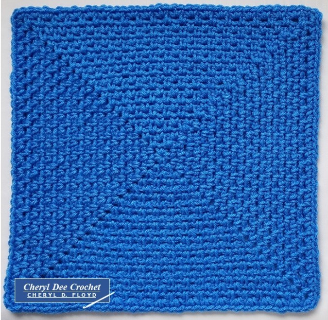 Blue Solid Square