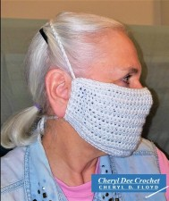 001.Face Mask in a Hurry crochet pattern by Cheryl Dee Floyd