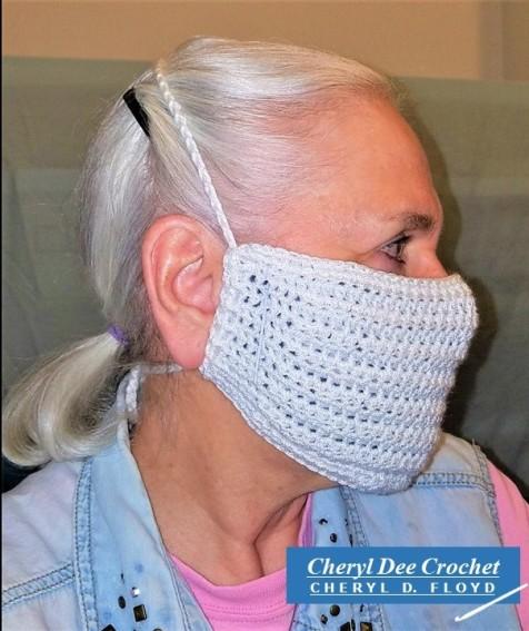 001.Face Mask in a Hurry crochet pattern by Cheryl Dee Floyd