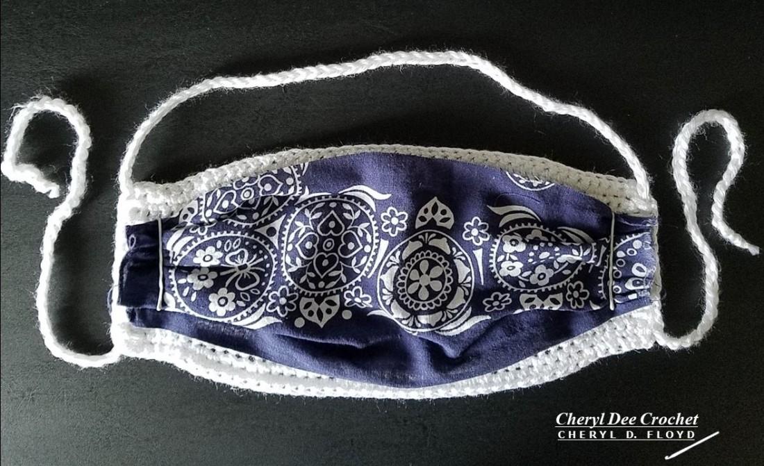 003.Face Mack in a Hurry crochet pattern by Cheryl Dee Floyd