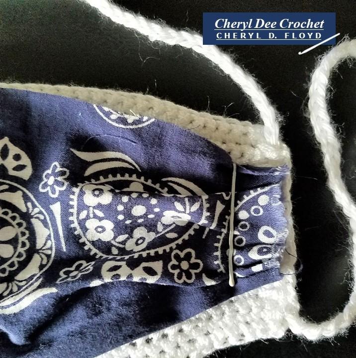 004.Face Mack in a Hurry crochet pattern by Cheryl Dee Floyd