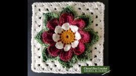 Col;arette Dahlia Square 8 inch by Cheryl Dee Crochet