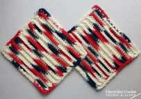 Simple Ribbed Dishcloth crochet pattern by Cheryl Dee Floyd.3
