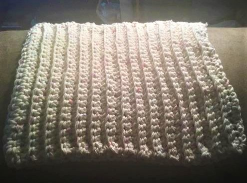 Simple Ribbed Dishcloth test project by Susie Spriggs