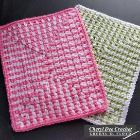 Islas Blanket crochet pattern by Cheryl Dee Floyd 4 Afghan Blocks